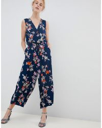 1974f896f2ca Soaked In Luxury - Floral Wrap Occasion Jumpsuit - Lyst