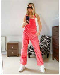 adidas Originals Розовый Вельветовый Комбинезон 'comfy Cords'
