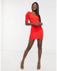 AX Paris Красное Платье Мини На Одно Плечо -красный