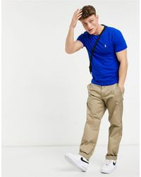 Polo Ralph Lauren Синяя Футболка С Логотипом Игрока -голубой - Синий