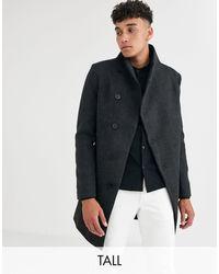 Religion Tall Funnel Neck Asymmetric Overcoat - Grey