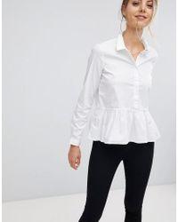 Esprit Ruffle Hem Shirt - White
