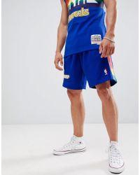 Mitchell & Ness Nba Denver Nuggets Swingman Shorts - Blue