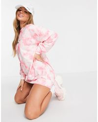 New Girl Order Tie Dye Logo Jumper Dress - Pink