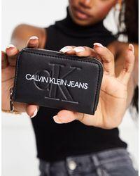 Calvin Klein Porte-monnaie avec fermeture éclair - Noir