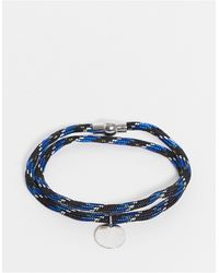 Burton Burton - Armband Van Touw - Blauw