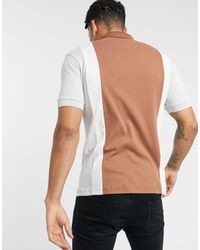 Burton Mb Collection Cut And Sew Tobacco/grey Polo - Brown
