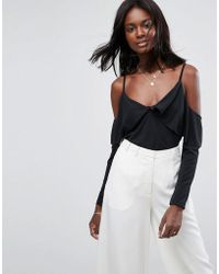 ASOS   Top In Crepe With Clean Cold Shoulder   Lyst