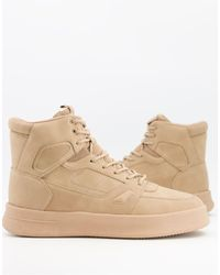 Pull&Bear High Top Trainers - Natural