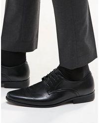 ASOS - Zapatos Derby en cuero sintético en negro - Lyst