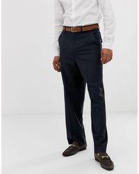ASOS Wide Leg Smart Pants - Blue