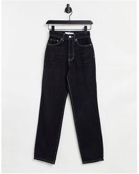 TOPSHOP - Jeans nero slavato - Lyst