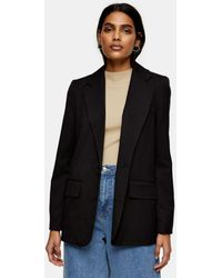 TOPSHOP Girlfriend Suit Blazer - Black