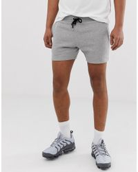 ASOS Jersey Skinny Shorts In Shorter Length In Grey Marl - Gray