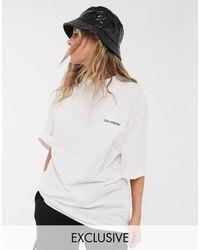 Collusion Unisex - Undyed Diy - Oversized T-shirt Met Logoprint - Meerkleurig