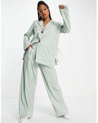Skylar Rose Tailleur 2 pièces avec pantalon large et blazer - sauge - Vert