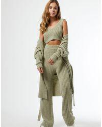 Miss Selfridge Pantalon en maille - cendré - Vert