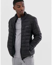 Bellfield Funnel Neck Puffer Jacket - Black