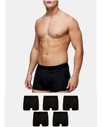 TOPMAN Confezione da 5 boxer aderenti neri - Nero