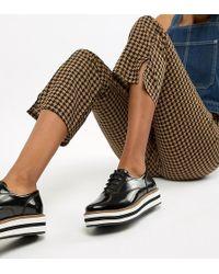 Monki - Studded Platform Lace Up Shoes In Black - Lyst
