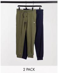 Jack & Jones 2 Pack joggers - Green
