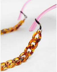 Vero Moda Catenina per occhiali da sole marrone tartarugato