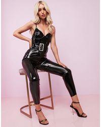 ASOS Luxe - Tuta aderente a corsetto - Nero
