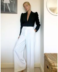 Pimkie Wide Leg Trouser - White