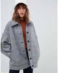 Weekday - Oversized Wool Trucker Jacket In Multi - Lyst