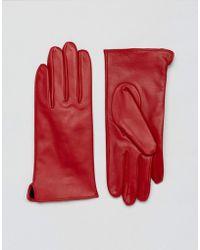 Barneys Originals - Real Leather Gloves - Lyst
