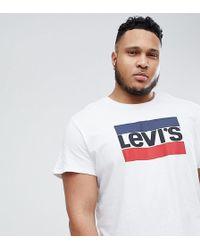 Levi's - Levi's Plus Sportswear Logo T-shirt White - Lyst
