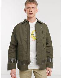 Weekday Водонепроницаемая Куртка Цвета Хаки -зеленый