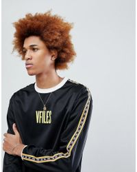 VFiles - Logo Long Sleeve T-shirt In Black With Taping - Lyst