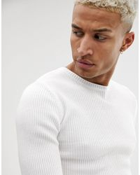 ASOS Jersey ajustado - Blanco