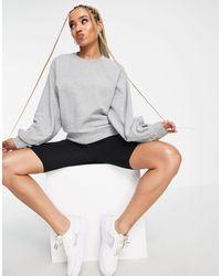 UGG Brook Balloon Sleeve Crewneck Sweater - Grey