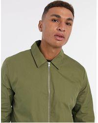 New Look Куртка В Стиле Милитари Цвета Хаки С Молнией -зеленый Цвет