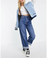TOPSHOP One Oversized Mom Jean - Blue