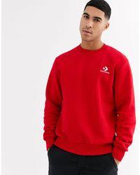 Converse – es Sweatshirt mit Rundhalsausschnitt und Logo mit Stern und Pfeil - Rot