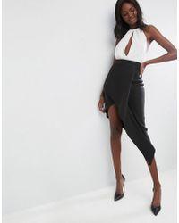 ASOS DESIGN - Asos Origami Rib Pencil Skirt - Lyst