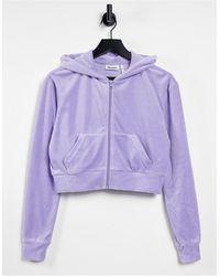 Weekday Фиолетовый Велюровый Худи От Комплекта Juno-фиолетовый Цвет - Пурпурный