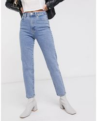 Stradivarius Slim Mom Jeans With Stretch - Blue
