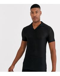 ASOS - Tall Skinny Revere Polo Shirt - Lyst