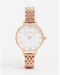 Olivia Burton Часы Цвета Розового Золота С Белым Циферблатом Ob16dew01-золотистый - Многоцветный