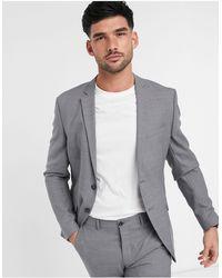 Jack & Jones Светло-серый Приталенный Пиджак Premium