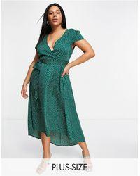 AX Paris Vestido con estampado - Verde
