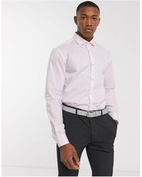 Moss Bros Moss London - Chemise coupe slim - clair - Rose