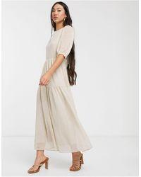 Glamorous Свободное Платье Макси С Завязкой На Спине -кремовый - Естественный