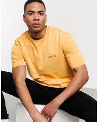 Nicce London T-shirt oversize albicocca - Multicolore
