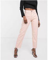 ASOS Ritson original - Mom jeans rosa slavato