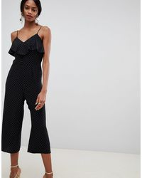 Oasis Polka Dot Jumpsuit - Black